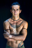 Easter Island, Chile 2006 . Tatooed man, Easter Island, 2006
