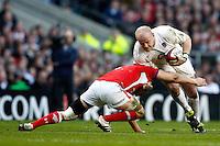 Photo: Richard Lane/Richard Lane Photography. England v Wales. 25/02/2012. England's Dan Cole attacks.