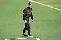 Vanderbilt Commodores coach Tim Corbin looks in at the action against the Tennessee Volunteers on Robert M. Lindsay Field at Lindsey Nelson Stadium on April 16, 2021, in Knoxville, Tennessee. (Danny Parker/Four Seam Images)