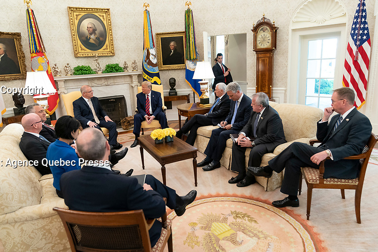 President Donald J. Trump participates in a bilateral meeting with Australian Prime Minister Scott Morrison Friday, Sept. 20, 2019, to the Oval Office of the White House. (Official White House Photo by Shealah Craighead)
