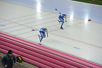 SPEED SKATING: HAMAR: Viking Skipet, 02-02-2019, ISU World Cup Speed Skating, Anne Gulbrandsen (NOR), Julie Nistad Samsonsen (NOR), ©photo Martin de Jong