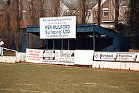 General view of Waterlooville FC, Jubilee Park, Aston Road, Waterlooville, Hampshire, pictured on 21st February 1988