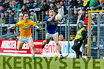 Gavin White, Kerry in action against Bryan McMahon, Meath during the Allianz Football League Division 1 Round 4 match between Kerry and Meath at Fitzgerald Stadium in Killarney, on Sunday.