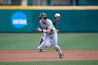 Dartmouth Big Green center fielder Trevor Johnson (36) runs to third base during a game against the USF Bulls on March 17, 2019 at USF Baseball Stadium in Tampa, Florida.  USF defeated Dartmouth 4-1.  (Mike Janes/Four Seam Images)