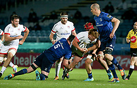 Friday 14th May 2021; Bradley Roberts is tackled by James Ryan and Josh van der Flier during the Guinness PRO14 Rainbow Cup Round 3 clash between Leinster and Ulster at The RDS Arena, Ballsbridge, Dublin, Ireland. Photo by John Dickson/Dicksondigital