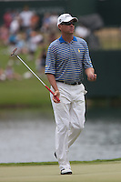 PONTE VEDRA BEACH, FL - MAY 6: Davis Love III on the 17th green during his practice round on Wednesday, May 6, 2009 for the Players Championship, beginning on Thursday, at TPC Sawgrass in Ponte Vedra Beach, Florida.