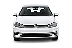 Car photography straight front view of a 2019 Volkswagen Golf S 5 Door Hatchback