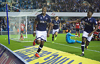 Tom Elliott of Millwall celebrates after scoring his side's 3rd goal to make it 3-3 during the Sky Bet Championship match between Millwall and Ipswich Town at The Den, London, England on 15 August 2017. Photo by Alan  Stanford / PRiME Media Images.