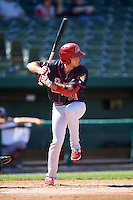Peoria Chiefs second baseman Josh Swirchak (40) at bat during the second game of a doubleheader against the South Bend Cubs on July 25, 2016 at Four Winds Field in South Bend, Indiana.  South Bend defeated Peoria 9-2.  (Mike Janes/Four Seam Images)