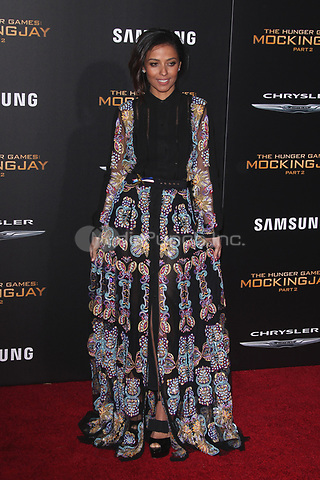 """LOS ANGELES, CA - NOVEMBER 16: Meta Golding at the Premiere Of """"The Hunger Games: Mockingjay - Part 2"""" At Microsoft Theater On November 16, 2015. Credit: mpi21/MediaPunch"""