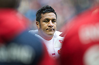 Mako Vunipola of England prepares for his first cap before the QBE International between England and Fiji at Twickenham on Saturday 10th November 2012 (Photo by Rob Munro)