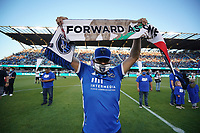 SAN JOSE, CA - JUNE 26: Frontline Workers are honored at halftime during a game between Los Angeles Galaxy and San Jose Earthquakes at PayPal Park on June 26, 2021 in San Jose, California.