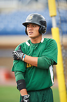 Lynchburg Hillcats shortstop Yu-Cheng Chang (6) during practice before a game against the Wilmington Blue Rocks on June 3, 2016 at Judy Johnson Field at Daniel S. Frawley Stadium in Wilmington, Delaware.  Lynchburg defeated Wilmington 16-11 in ten innings.  (Mike Janes/Four Seam Images)