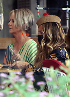 NEW YORK, NY - July 14: Cynthia Nixon, Sarah Jessica Parker, on the set of the HBOMax Sex And The City reboot series 'And Just Like That' in New York City on July 14, 2021. <br /> CAP/MPI/RW<br /> ©RW/MPI/Capital Pictures