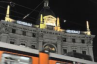 - Milan, Assicurazioni Generali headquarters in Cordusio square....- Milano, palazzo delle Assicurazioni Generali in piazza Cordusio