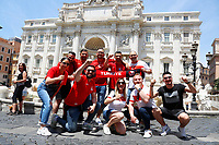 Turkish supporters visiting Trevi Fountain in Rome before the first Euro 2020 match, AS Roma - Turkey.<br /> Rome (Italy), June 11th 2021<br /> Photo Samantha Zucchi Insidefoto