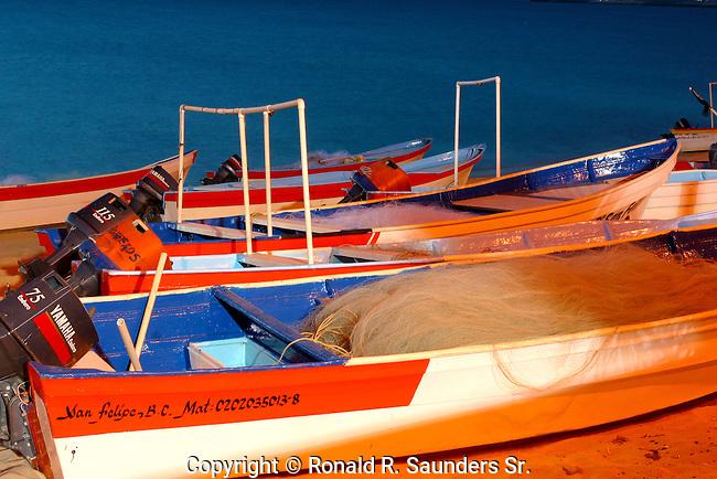PANGA BOATS on BEACH