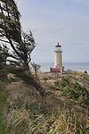 North Head Lighthouse, Washington State.  Cape Disappointment.   Long Beach Peninsula, Washington State.  USA