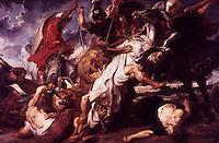 Peter Paul Rubens 1577-1640.  Lion hunt.  Alte Pinakothek, Munich. Referemce only.