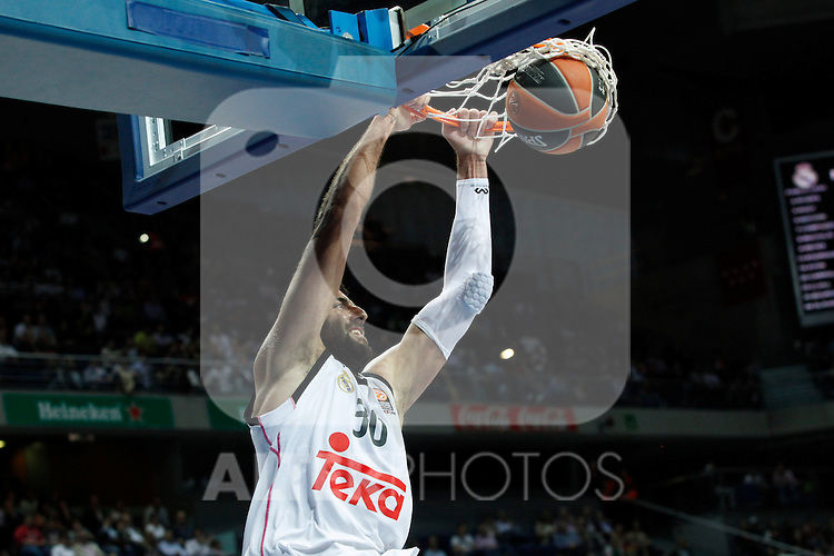 Basketball Real Madrid´s Bourousis during Euroleague basketball match in Madrid, Spain. October 17, 2014. (ALTERPHOTOS/Victor Blanco)