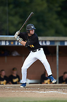 Gage Smith (24) (Mars Hill University) of the Statesville Owls at bat against the High Point-Thomasville HiToms at Finch Field on July 19, 2020 in Thomasville, NC. The HiToms defeated the Owls 21-0. (Brian Westerholt/Four Seam Images)
