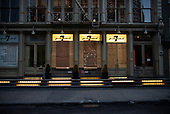 New York New York<br /> June 6, 2020<br /> <br /> After several nights of looting, nearly all ground level windows in Soho are covered with plywood. Most of the shops had been looted others are boarded for protection. <br /> <br /> At curfew hours - 8pm till 5am police cordon of certain streets and only allow residence with an ID to pass.