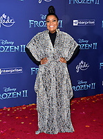 """LOS ANGELES, USA. November 08, 2019: Yvette Nicole Brown at the world premiere for Disney's """"Frozen 2"""" at the Dolby Theatre.<br /> Picture: Paul Smith/Featureflash"""