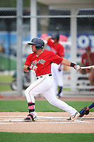 GCL Red Sox first baseman Rafael Oliveras (2) at bat during the second game of a doubleheader against the GCL Rays on August 9, 2016 at JetBlue Park in Fort Myers, Florida.  GCL Rays defeated GCL Red Sox 9-1.  (Mike Janes/Four Seam Images)