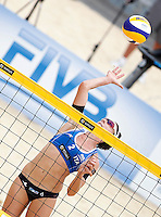 Italy's Greta Cicolari in action at the Beach Volleyball World Tour Grand Slam, Foro Italico, Rome, 22 June 2013. United States defeated Italy 2-0.<br /> UPDATE IMAGES PRESS/Isabella Bonotto