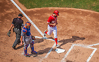 27 July 2013: Washington Nationals pitcher Dan Haren comes home to score in the 3rd inning against the New York Mets at Nationals Park in Washington, DC. The Nationals defeated the Mets 4-1. Mandatory Credit: Ed Wolfstein Photo *** RAW (NEF) Image File Available ***