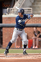 UC Irvine Anteaters third baseman Jonathan Munoz (15) awaits a pitch during game one of a double header against the Tennessee Volunteers at Lindsey Nelson Stadium on March 12, 2016 in Knoxville, Tennessee. The Volunteers defeated the Anteaters 14-4. (Tony Farlow/Four Seam Images)