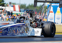 Aug 21, 2016; Brainerd, MN, USA; NHRA top fuel driver Terry Haddock during the Lucas Oil Nationals at Brainerd International Raceway. Mandatory Credit: Mark J. Rebilas-USA TODAY Sports