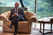 Dato' Sri Haji Mohammad Najib bin Tun Haji Abdul Razak, Prime Minister of Malaysia reacts during an interview in his office in Putrajaya, Selangor, Malaysia.