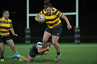 Action from the 2019 Wellington secondary schools girls 1st XV rugby final between Porirua/Aotea College (combined) and Hutt Valley High School at Porirua Park in Wellington, New Zealand on Wednesday, 21 August 2019. Photo: Dave Lintott / lintottphoto.co.nz
