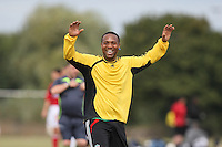 A Gascoyne player celebrates a goal during a Hackney & Leyton Sunday League game at Hackney Marshes - 06/09/09 - MANDATORY CREDIT: Gavin Ellis/TGSPHOTO - Self billing applies where appropriate - Tel: 0845 094 6026