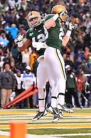 December 07, 2013:<br /> <br /> Baylor Bears inside receiver Levi Norwood #42 celebrates after scoring touchdown during NCAA football game at Floyd Casey Stadium in Waco, TX. Baylor win BIG 12 championship by defeating Texas 30-10.