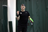 WINSTON-SALEM, NC - JANUARY 24: Millen Hurrion of the University of Kentucky during a game between Kentucky and Penn State at Wake Forest Indoor Tennis Center on January 24, 2020 in Winston-Salem, North Carolina.