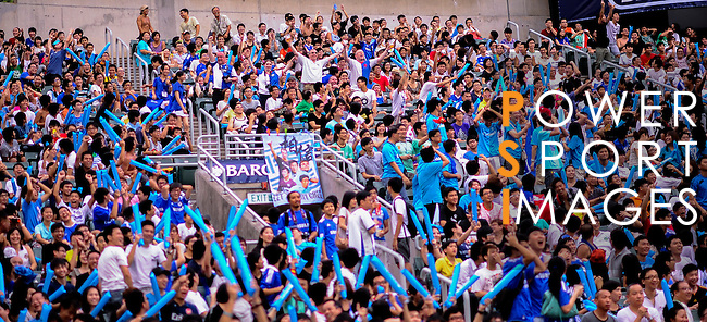 Chinese fans show their support during the Asia Trophy pre-season friendly match at the Hong Kong Stadium on July 30, 2011 in So Kon Po, Hong Kong. Photo by Victor Fraile / The Power of Sport Images