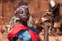 Banna girl at Key Afar market Ethiopia