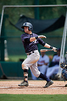 GCL Yankees West second baseman Matt Pita (16) follows through on a swing during the second game of a doubleheader against the GCL Braves on July 30, 2018 at Champion Stadium in Kissimmee, Florida.  GCL Braves defeated GCL Yankees West 5-4.  (Mike Janes/Four Seam Images)