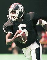 JC Watts Ottawa Rough Riders quarterback 1985. Copyright photograph Scott Grant