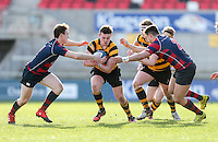 Monday 27th February 2017 | ULSTER SCHOOLS CUP SEMI-FINAL<br /> <br /> Neil Saulters during the Ulster Schools Cup Semi-Final between RBAI and Ballymena Academy  at Kingspan Stadium, Ravenhill Park, Belfast, Northern Ireland. <br /> <br /> Photograph by John Dickson | www.dicksondigital.com