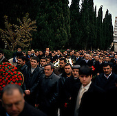 Baku, Azerbaijan .December 12, 2006..The third year anniversary of former Azeri President, Haider Aliyev's death is marked in Baku. At his grave site thousands pass by to pay their respects. The former President is idolized in Azerbaijan...His son Ilam Aliyev now rules the country..