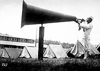 """""""Getting em up"""" at U.S.N.T. Camp, Seattle, Wash.  Ca.  1917-18.  Webster & Stevens.  (War Dept.)<br />Exact Date Shot Unknown<br />NARA FILE #:  165-WW-332D-16<br />WAR & CONFLICT BOOK #:  455"""