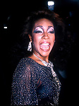 Mary Wilson backstage at the 50th Anniversary Gala of Motown Returns To The Apollo on May 4, 1985 at the Apollo Theater in New York City.