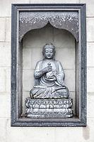 Nanjing, Jiangsu, China.  Sculpture of the Buddha, Niushou Mountain Buddhist Ashram.