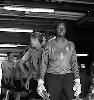 Briana Scurry prepares the enter the field with Team USA. The United States defeated Brazil 2-0 at Giants Stadium on Sunday, June 23, 2007.