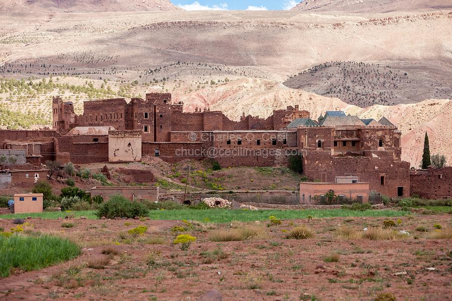 Morocco.  Kasbah Glaoui, Historic Headquarters of the Glaouwi Clan, Telouet, Atlas Mountains.