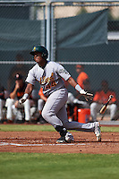 Oakland Athletics Robert Mullen (44) during an instructional league game against the San Francisco Giants on October 12, 2015 at the Giants Baseball Complex in Scottsdale, Arizona.  (Mike Janes/Four Seam Images)