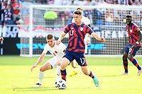 KANSAS CITY, KS - JULY 18: Matthew Hoppe #13 of the United States during a game between Canada and USMNT at Children's Mercy Park on July 18, 2021 in Kansas City, Kansas.